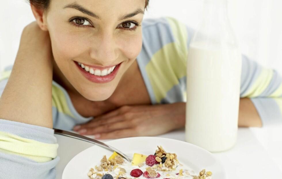 LURT VALG: Å spise en skikkelig frokost hjelper deg å kontrollere matinntaket resten av dagen. Foto: Getty Images