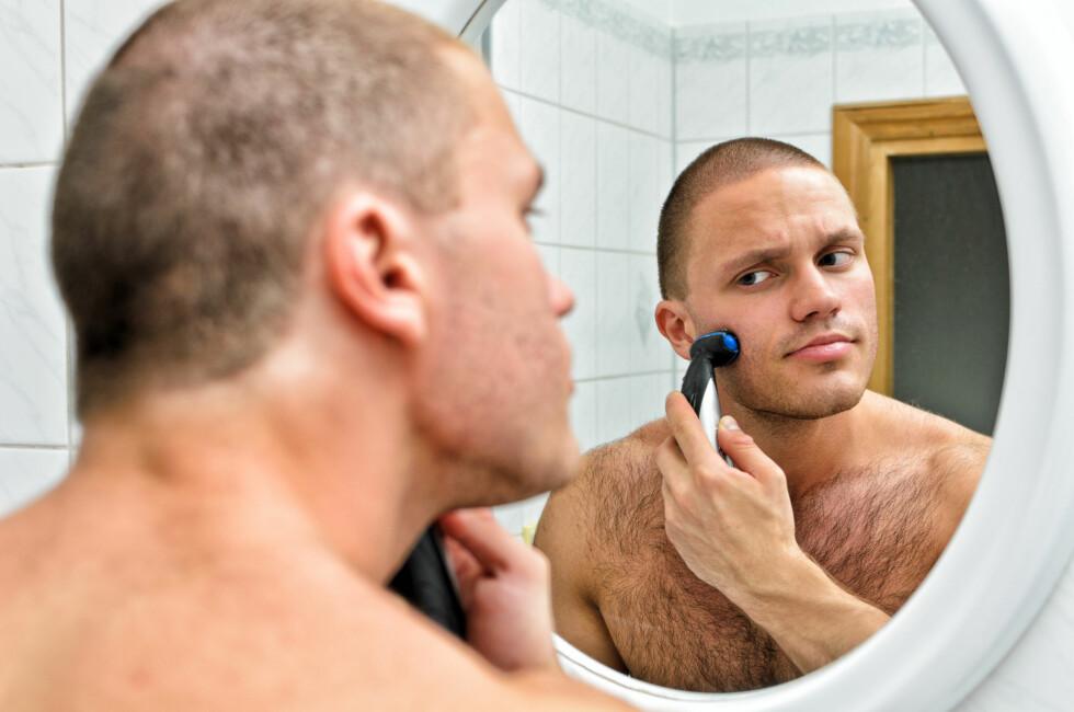 TOMMEL OPP: Menn som gjør seg flid med egenpleie er mer attraktive.  Foto: Colourbox