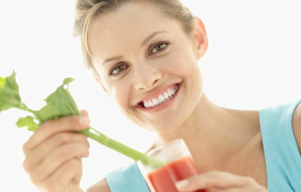 TOMATJUICE ER TOPP FØR TRENING: Drikken er full av antioksidanter som du vil få bruk for! Foto: Thinkstock