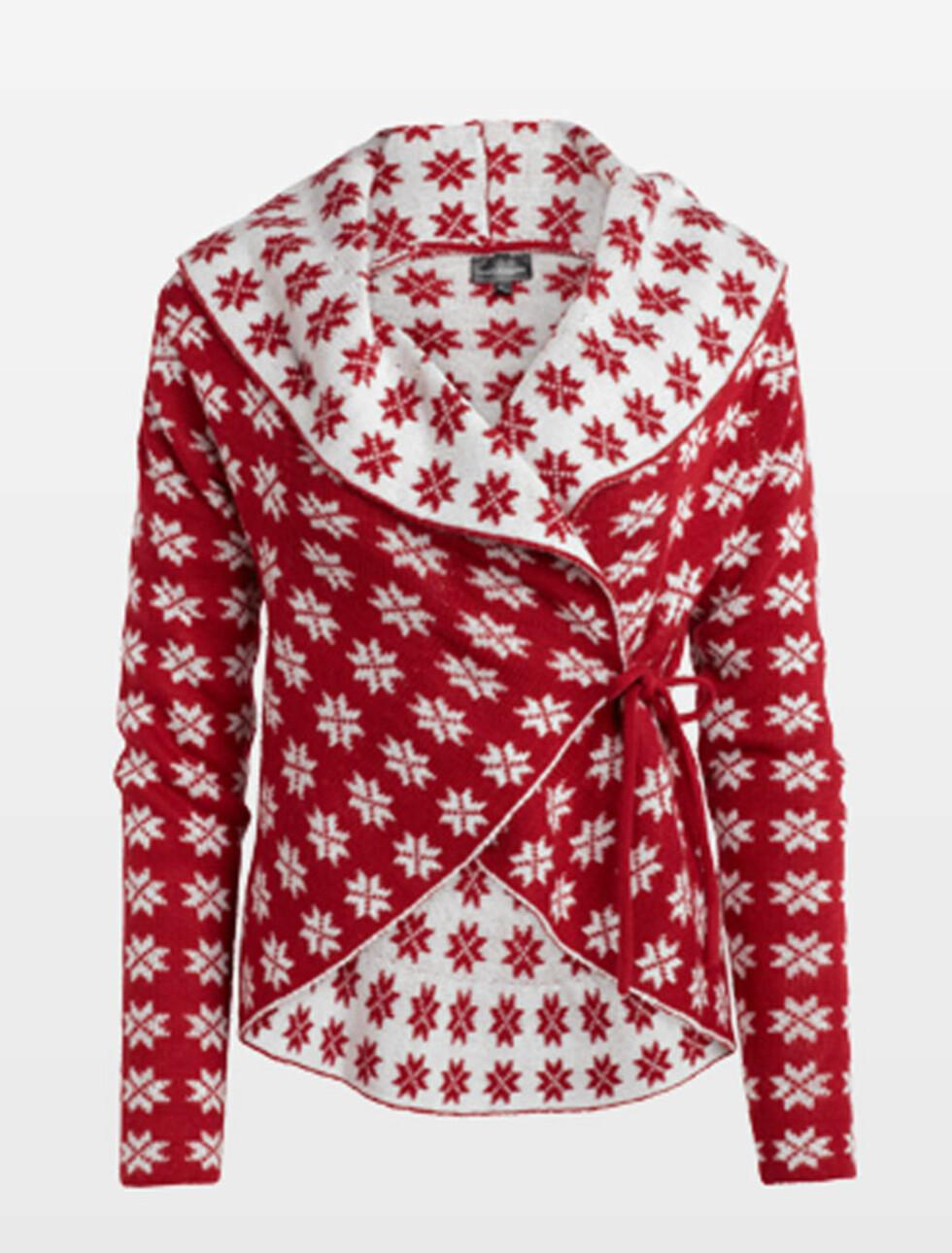 Pakk deg inn i en jule-cardigan (kr 399, KappAhl). Foto: Produsenten