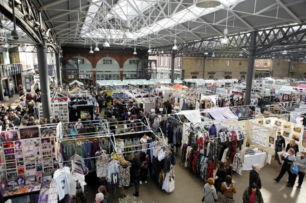 SPITALFIELDS MARKET: At markedet er innendørs gjør det perfekt for grå regnværsdager! Foto: All Over PressAll Over Press