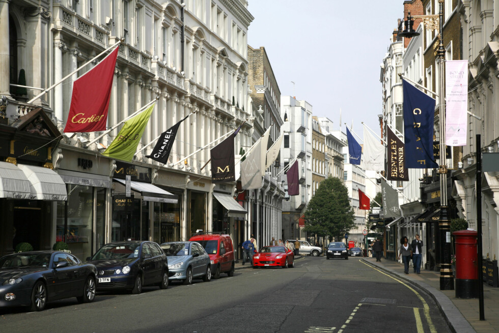<strong>BOND STREET:</strong> Bond Street er en eksklusiv og luksuriøs gate som ligger sentralt i London. Foto: All Over Press