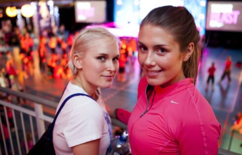 Venninnene Eva Weel Skram og Tone Damli liker å trene sammen. Foto: Per Ervland