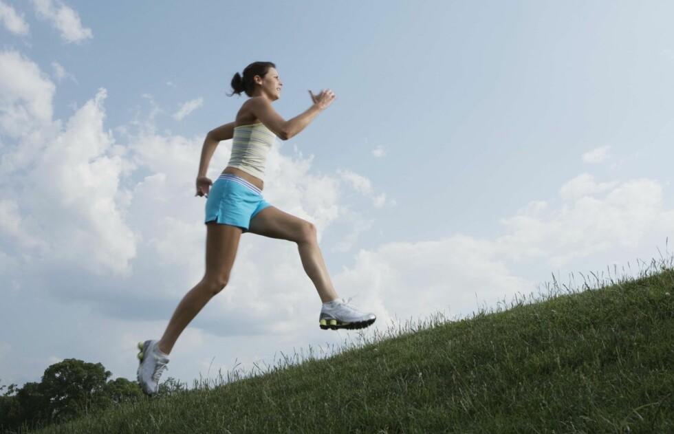 MENS PÅVIRKER SKADERISIKO: Forskning har vist at tøff trening, som jogging, uken før menstruasjon kan øke risikoen for skader - særlig i knærne.  Foto: Thinkstock
