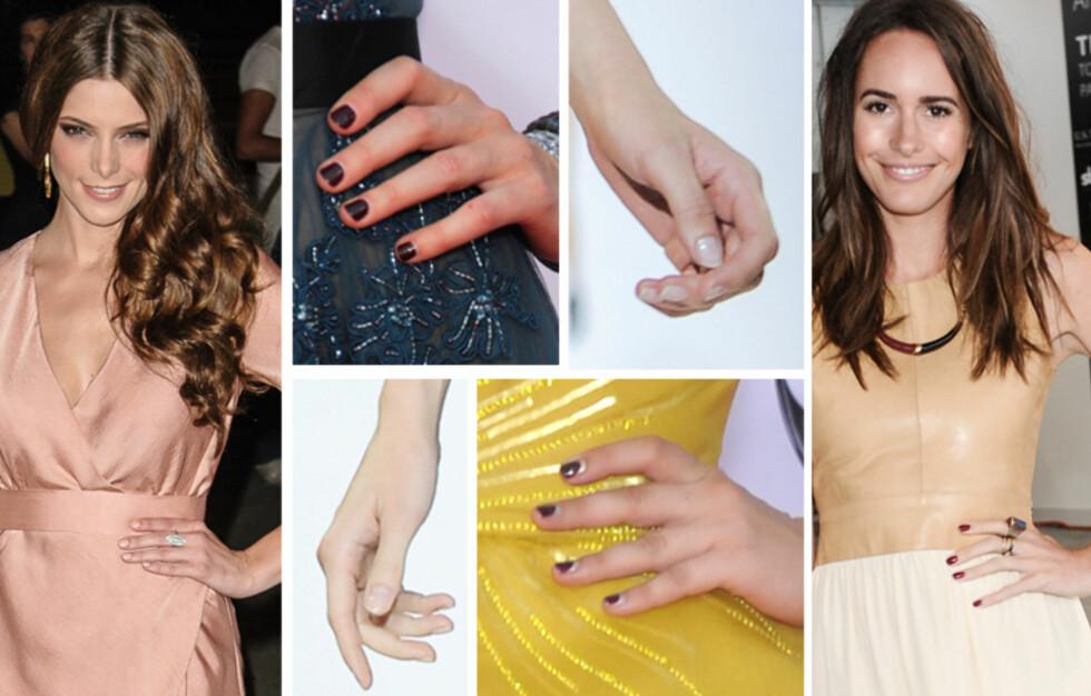 HØSTENS NEGLER: Nå skal neglelakken være dus og søt eller mørk og sexy.  Foto: All Over Press