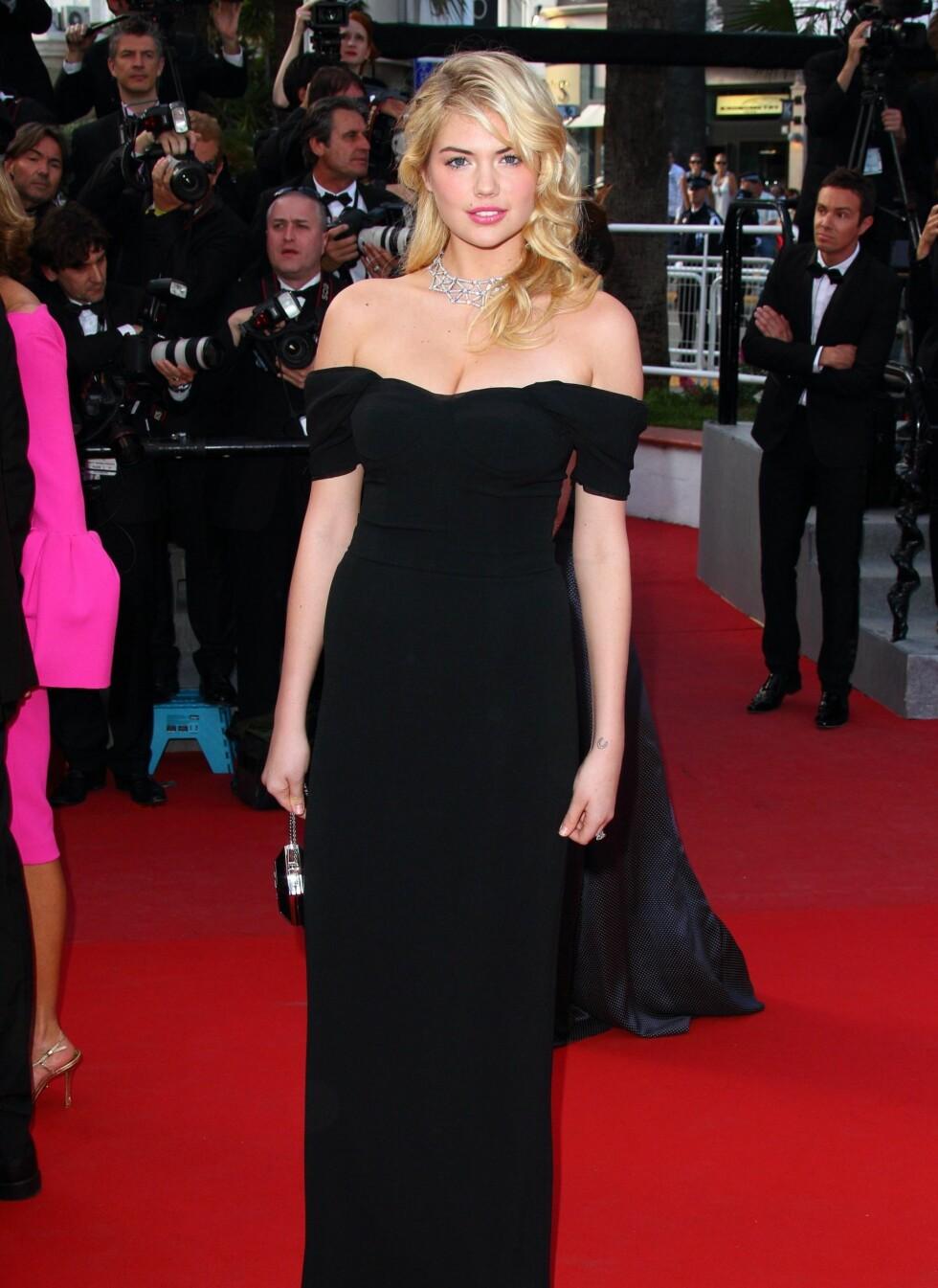 Kate Upton var på filmfestivalen i Cannes tidligere i år.  Foto: All Over Press