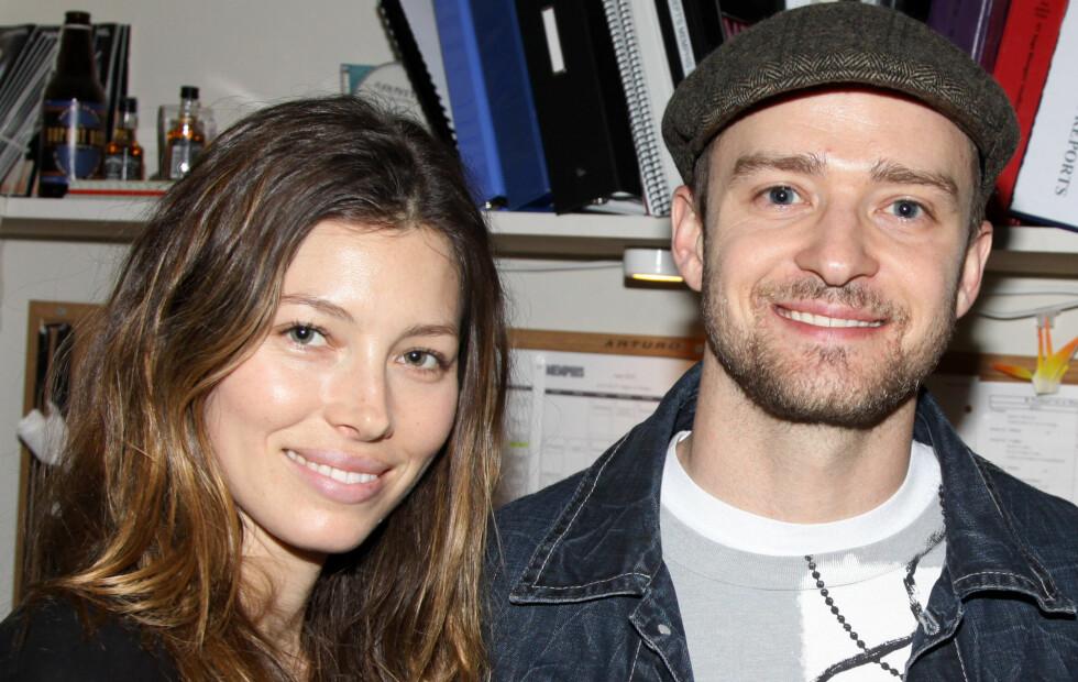 MANN OG KONE: Forrige helg giftet Jessica Biel og Justin Timberlake seg i Italia. Paret holdt en storslagen feiring i over en uke, og over 100 gjester deltok.  Foto: All Over Press