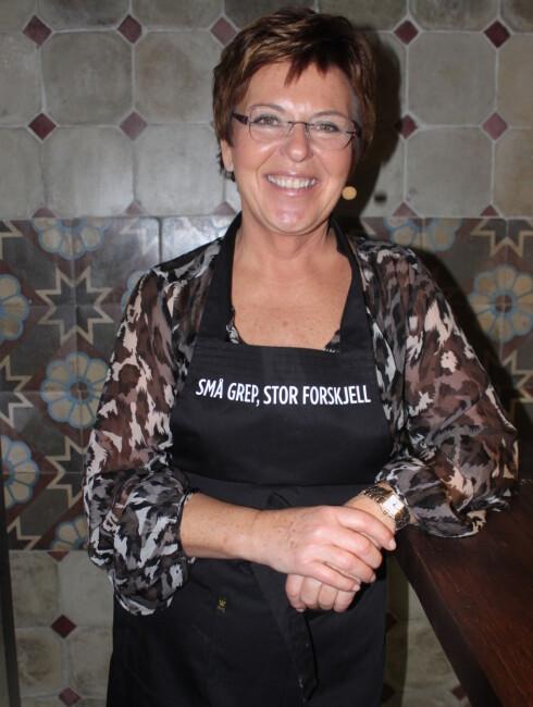 HELE NORGES TV-KOKK: Wenche Andresen er kostholdsøkonom, matjournalist og kokk i innslaget «Wenches kjøkken» på «God Morgen Norge». Foto: Tone Ruud Engen