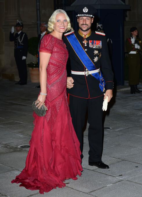 <strong>STRÅLTE:</strong> Kronprinsesse Mette-Marit får mye skryt for kjolevalgene sine og vender stadig tilbake til Pucci i store anledninger.  Foto: All Over Press
