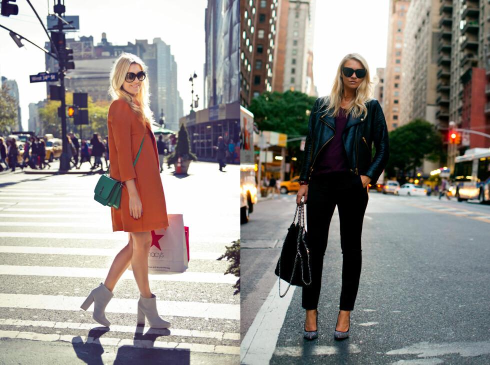 SILJE I NEW YORK: Silje Pedersen i New York. På shopping og jobb for KK og under New York Fashion Week nå i høst. Foto: Solveig Selj og Sara Johannessen