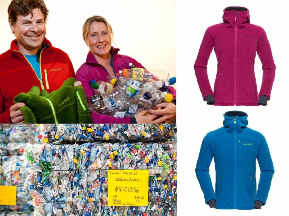 700.000 FLASKER: Daglig leder i Norrøna - Jørgen Jørgensen (på bildet) samlet inn over 700.000 brukte norske plastflasker til de nye jakkene. Foto: Norrøna