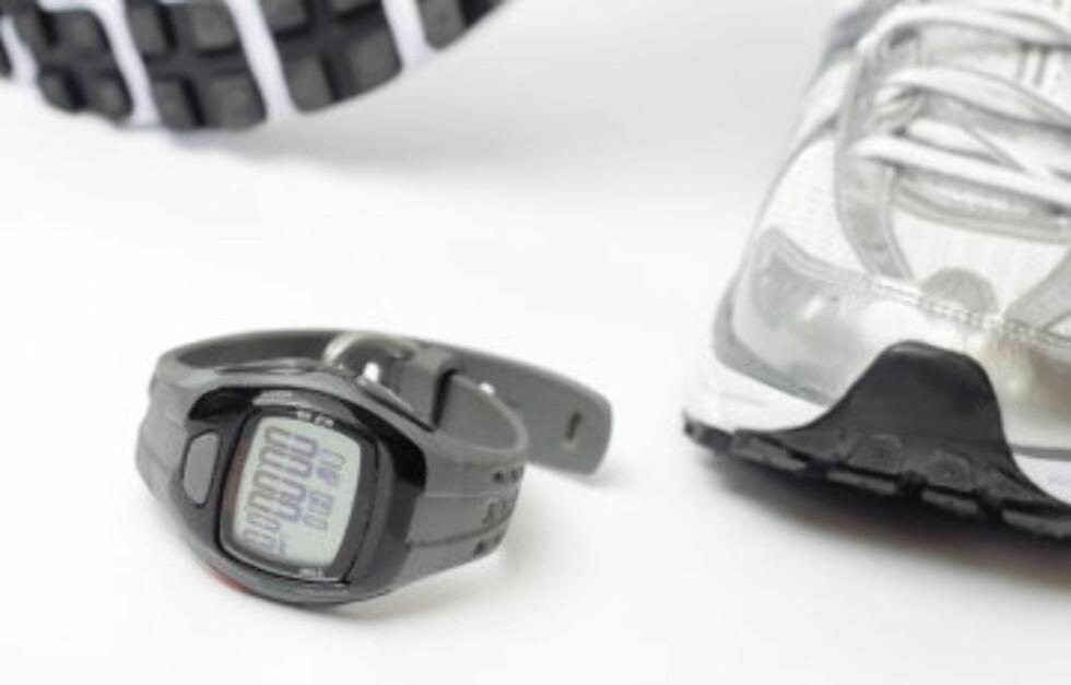 SUPERT VERKTØY: En pulsklokke er noe alle kan dra nytte av, uavhengig av om du er hverdagsmosjonist eller en mer hardbarka treningsentusiast. Du trenger likevel ikke kjøpe en avansert og rådyr modell for å få godt utbytte av klokken.  Foto: Getty Images/iStockphoto
