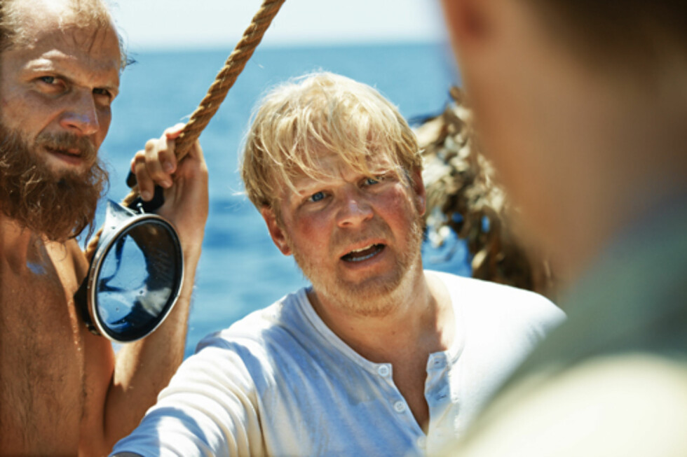"NY NORSK STORFILM: Anders Baasmo Christiansen spiller Herman Watzinger i filmen ""Kon-Tiki"", som hadde Norgespremiere forrige fredag. Foto: Filmweb.no"