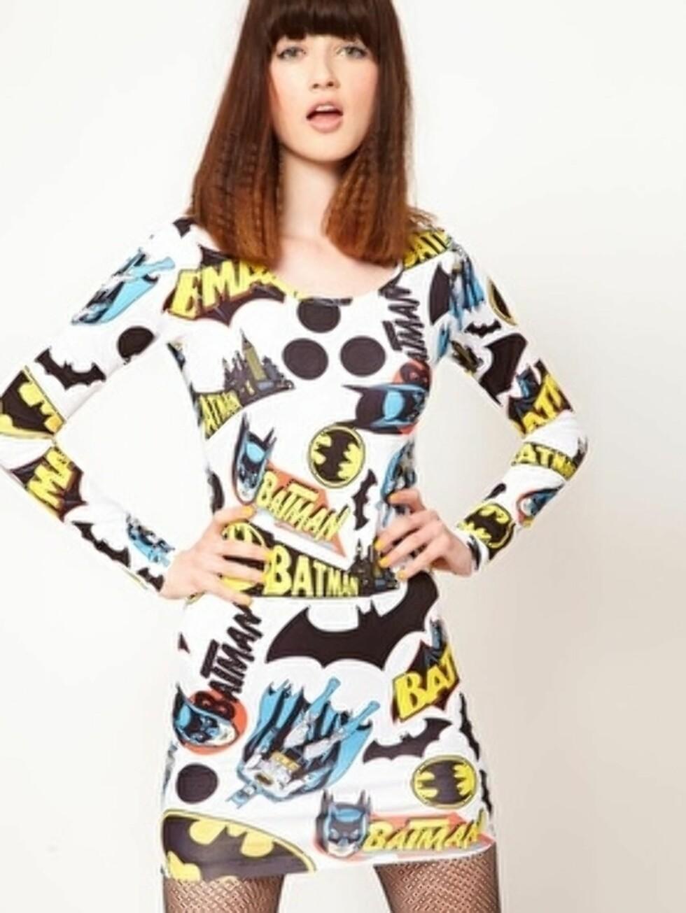 Batman-kjole (kr 625, Asos.com). Foto: Produsenten