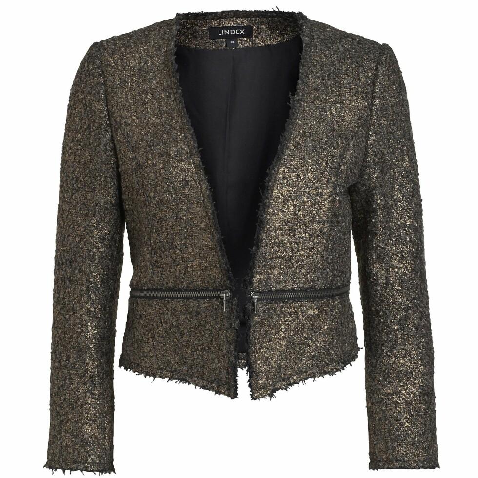 Metallisk jakke (kr 500, Lindex). Foto: Produsenten