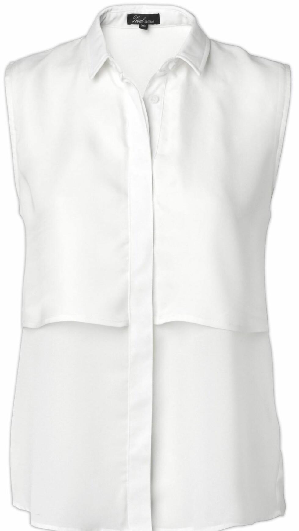Ermeløs skjorte (kr 400, MQ). Foto: Produsenten