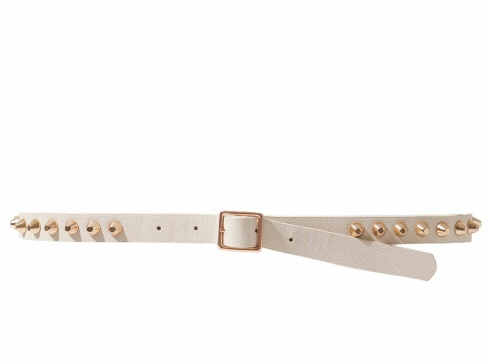 Belte med nagler (kr 180, Zara). Foto: Produsenten