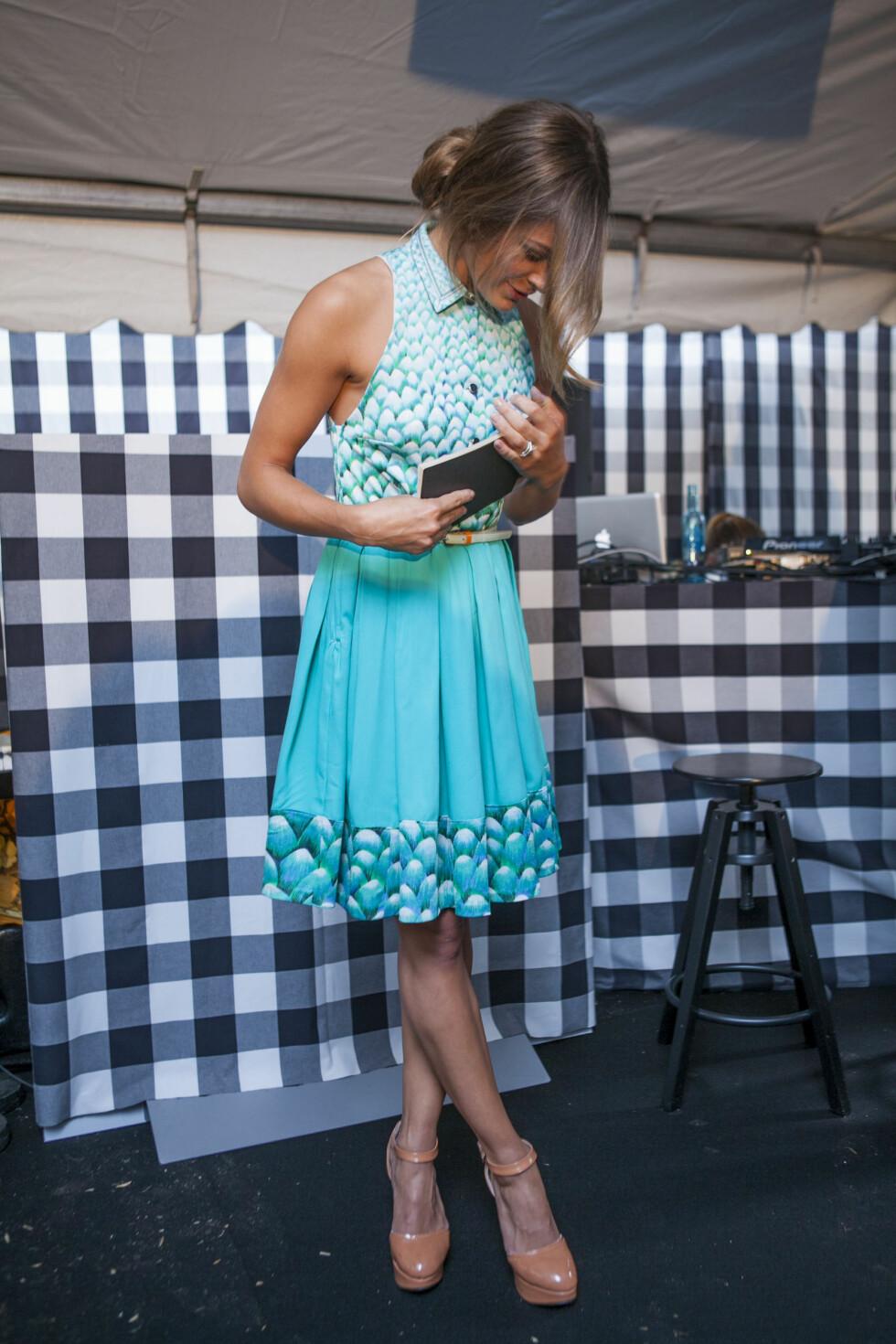 SE MIN KJOLE: Tidligere vaskekone-kjole, nå Jenny Skavlan-kjole.  Foto: Per Ervland