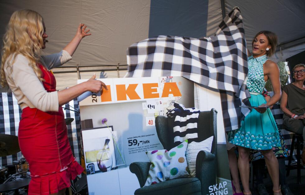 GODT NYTT IKEA-ÅR: Jenny Skavlan avduker Ikea-katalogen 2013. Foto: Per Ervland