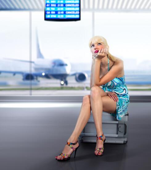 REIS LETT: Sukk - hvor er drømmemannen/bagasjebæreren når jeg trenger ham? Foto: Colourbox