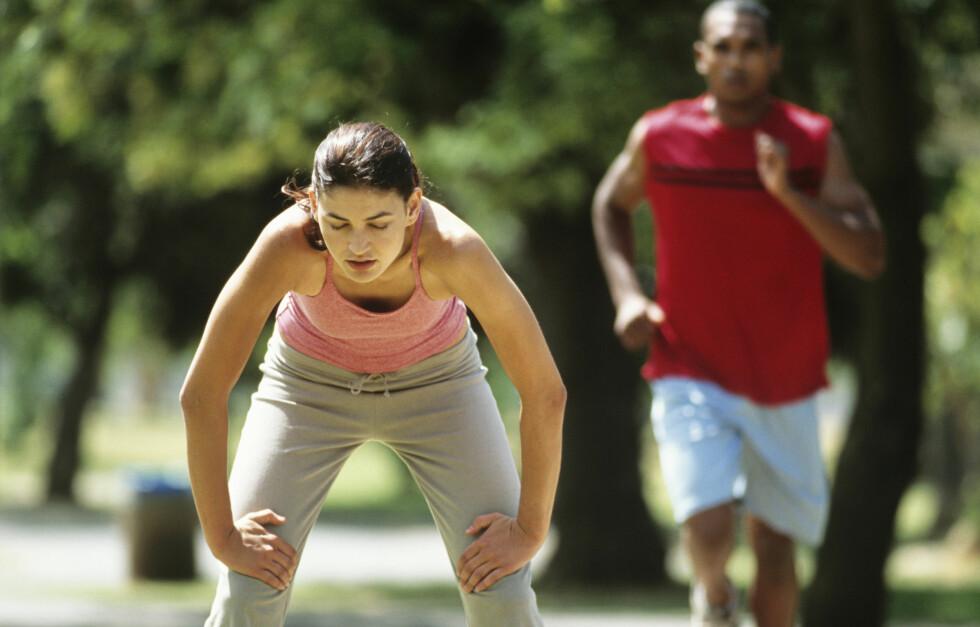 MYK START ER VIKTIG: Hvis du ikke er vant til løping, som gir den største belastningen på hofter, rygg, ankler og knær, må du begynne meget forsiktig. Foto: Getty Images