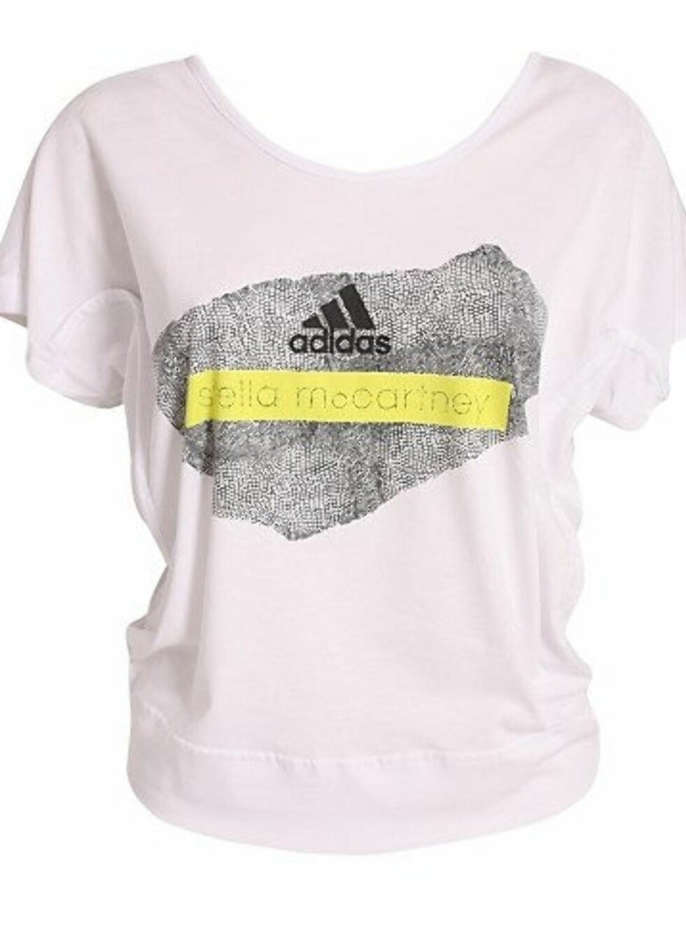 Treningsskjorte i en noe løs modell, fra Adidas by Stella McCartney. Laget av 100% Organisk Bomull. 399 kroner fra Nelly.com.  Foto: Produsenten