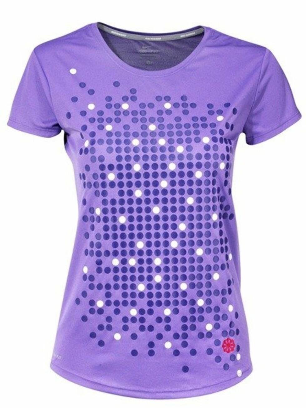 Herlig tynn løpe t-skjorte fra Nike i pustende stoff. 300 kroner fra Loplabbet.no.   Foto: Produsenten