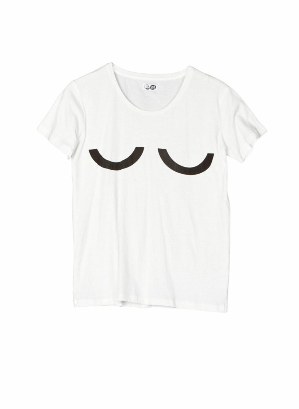 Enkel hvit t-skjorte fra Cheap Monday (kr.200/Weekday). Foto: Produsentene