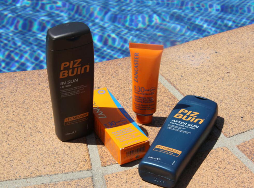 BLOKKERER SOLEN UTE: Solkremen har som hensikt å blokkere UV-strålene ute, men uten strålingen kan ikke kroppen produsere vitamin D. Da må du få i deg vitaminet på andre måter. Foto: Cecilie Leganger