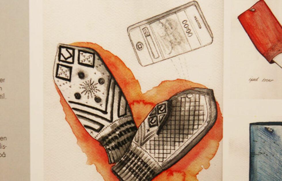 MODERNE TRADISJON: Designerduoen L&Js bidrag til designkonkurransen som skal ta tilbake den norske tekstiltradisjonen. Foto: Per Ervland