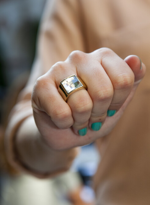 RING: Store ringer er lekkert. Kristins er fra Dyreberg Kern.  Foto: Per Ervland
