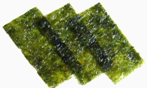 GRØNT OG SUNT: Sjøtang, her i form av nori, som brukes til sushi, blant annet. Foto: Alice Wiegand