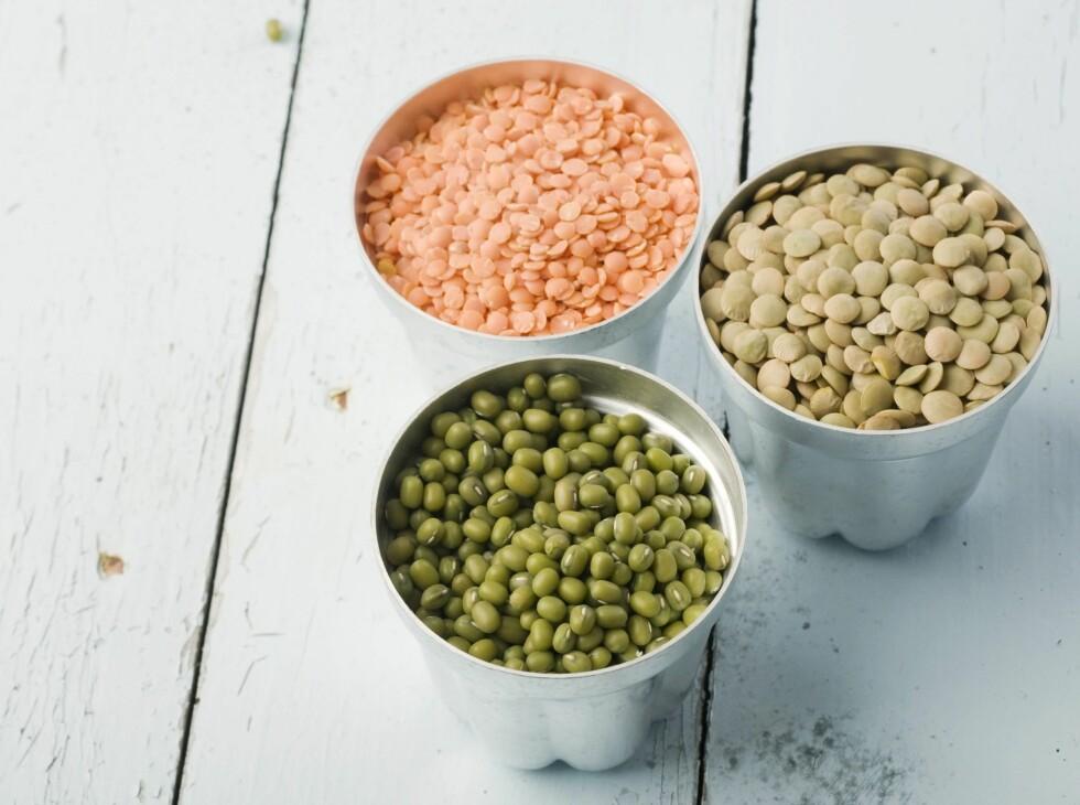 NÆRINGSRIKT OG SUNT: Bønner og linser er utrolig næringsrike og sunne. Ny forskning viser i tillegg at et regelmessig inntak kan minske risikoen for kreft i magen.  Foto: colourbox.com