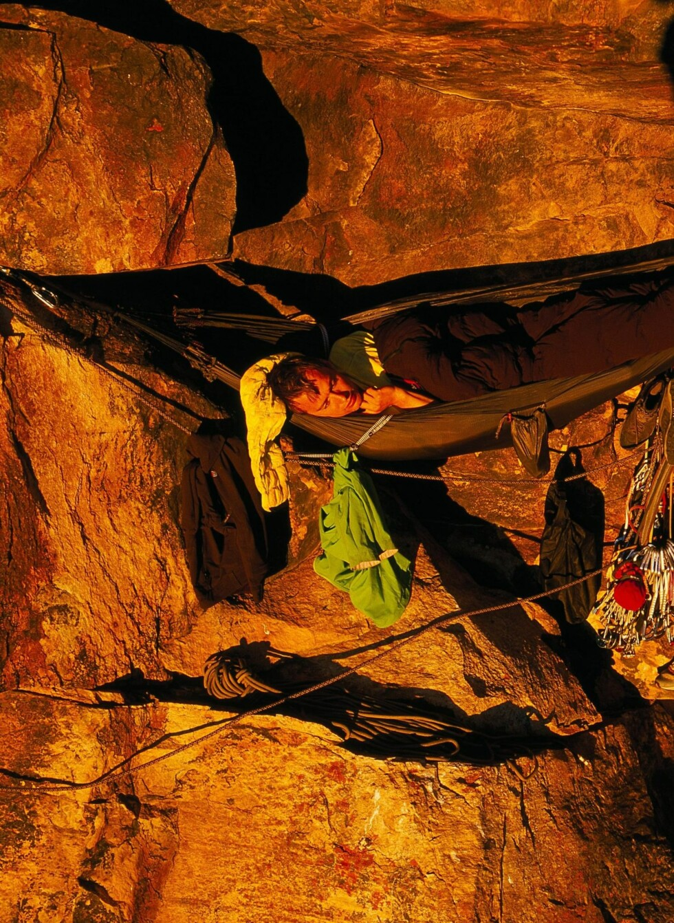 Her sover Houlding i fjellveggen.  Foto: Berghaus