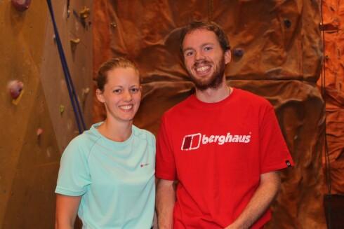 INSTRUKTØRENE: Øystein Thorvaldsen og Christine Maass er klatreinstruktører på Klatreverket i Oslo. Øystein har klatret i over ti år, mens Christine har holdt på i to år.