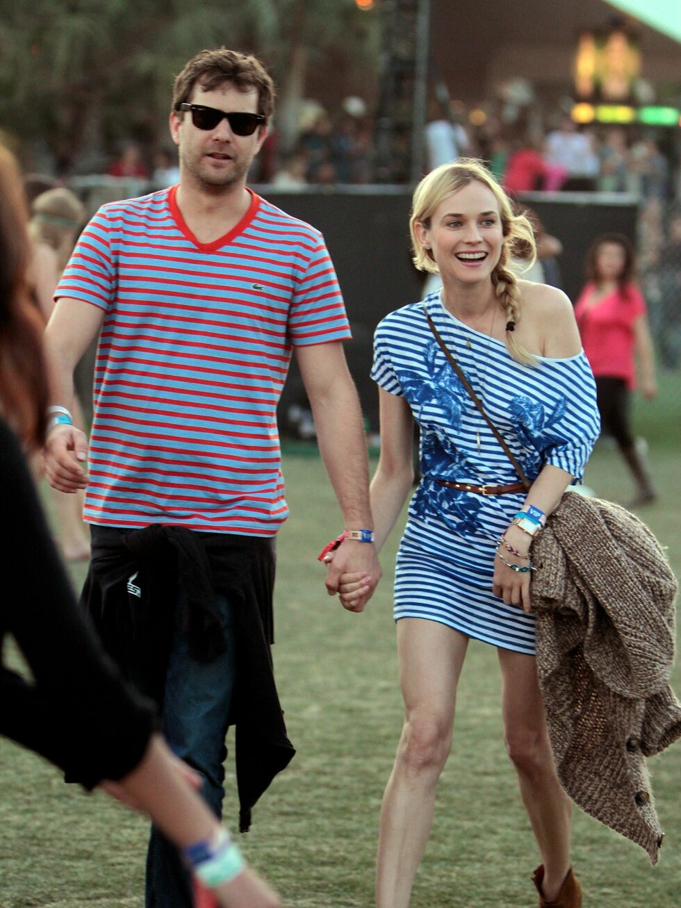 Kjæresteparet Joshua Jackson og Diane Kruger.  Foto: All Over Press