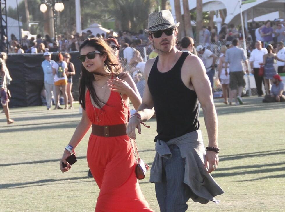 Vampire Diaries-paret Nina Dobrev og Ian Somerhalder. Foto: All Over Press