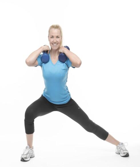 SUG INN MAGEN: For å få bedre effekt, sug inn magen.