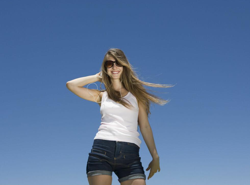 AV MED KLÆRNE: Pass på huden, og du er alltid shortsklar! Foto: Colourbox
