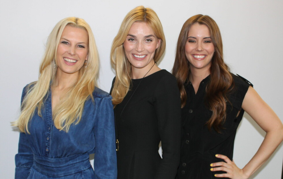 HÅRFINE MODELLER: (F.v) Vibeke Klemtsen, Camilla Pihl og Marion Ravn skal fronte Defines nye hårpleieserie. Foto: Tone Ra Pedersen