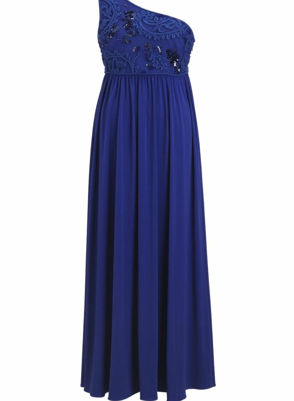 Klarblå kjole med pynt på overdelen, kr 2699. Foto: Produsenten