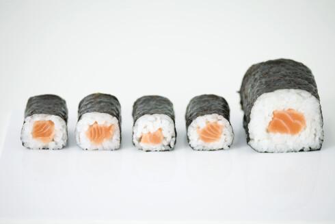 NAM: Sushi med laks - godt og sunt! Foto: Colourbox
