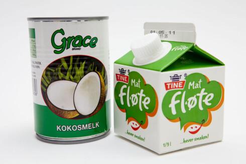 IKKE DET SAMME: Kokosvann er ikke det samme som kokosmelk. Kokosmelk er mye fetere, ja, faktisk fetere enn fløte.  Foto: Per Ervland