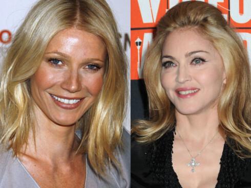 FANS: Venninnene Gwyneth Paltrow og Madonna sverger til kokosvann som restitusjonsdrikk etter trening.