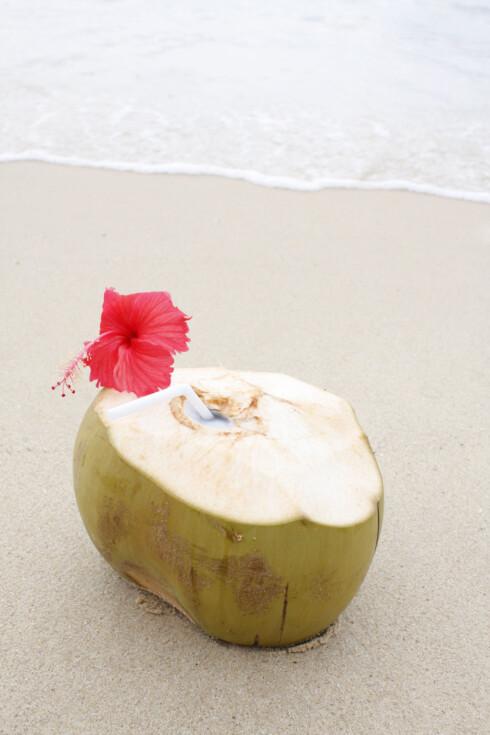 MASSE NÆRINGSSTOFFER: Vannet, som hentes fra unge, grønne kokosnøtter, er rikt på utallige ulike næringsstoffer.