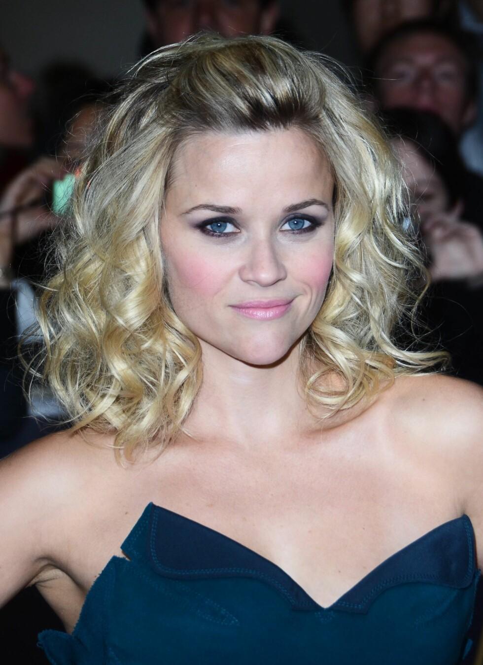Skuespiller Reese Witherspoon har hjerteformet ansikt, med bred panne og smalt hakeparti. Foto: All Over Press