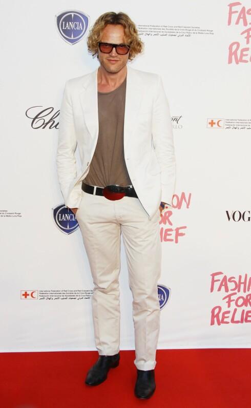 PETER DUNDAS, her på Fashion for Relief-arrangement i Cannes, ble kreativ leder hos Pucci i 2008, og har tidligere jobbet for prestisjetunge motehus som Gaultier, Dolce&Gabbana, Lacroix og Cavalli. Foto: All Over Press