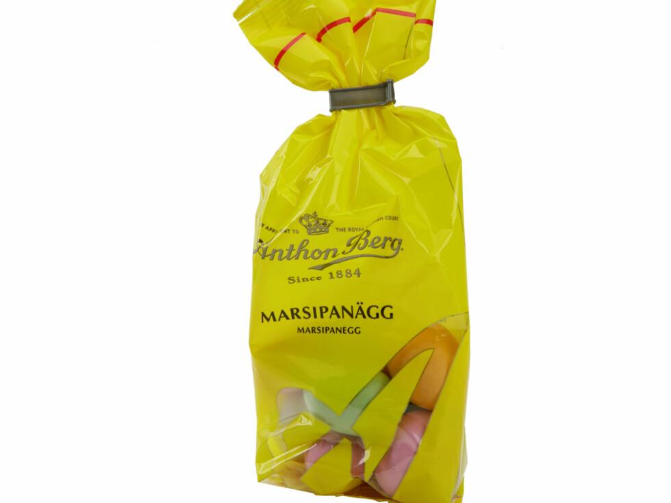 De ulike marsipanproduktene i butikken inneholder forskjellig mengde mandler - er din favoritt den som inneholder mest av de brune nøttene?