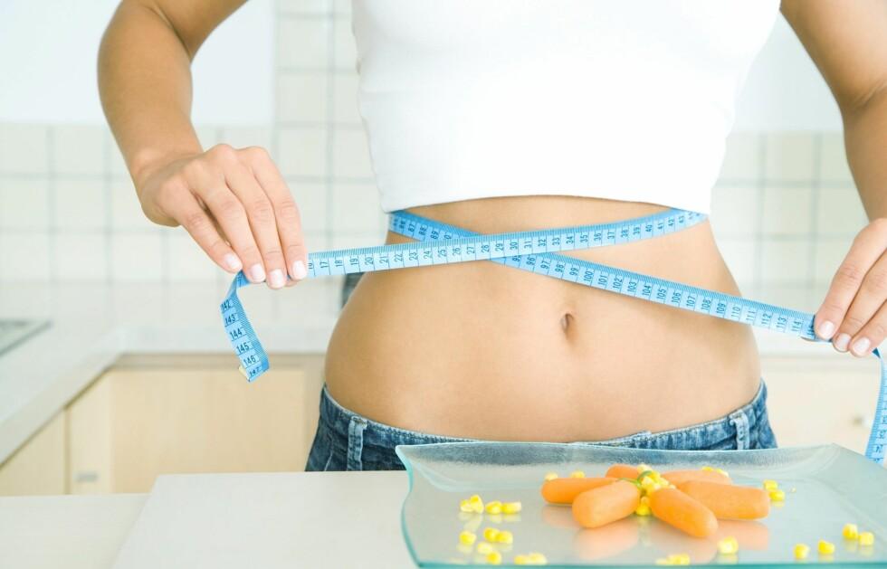 VIL NED I VEKT: En ny undersøkelse gjennomført av NorStat på vegne av Midsona Norge og forlaget Lille Måne, viser at hele syv av ti norske kvinner ønsker å gå ned i vekt. Halvparten har også forsøkt å gå ned i vekt i løpet av det siste året.  Foto: Colourbox.com