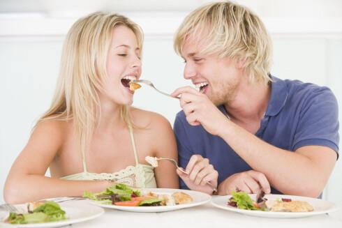 I MATEN: Proteiner får du i kjøtt, fisk, egg, skalldyr og magre meieriprodukter. Foto: Panther Media